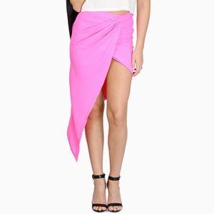 NWOT Tobi 'Bright Stuff' Draped Skirt